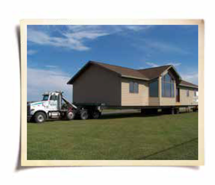 Picture of house on a trailer